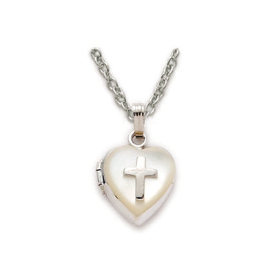 Silver & Pearl Heart Locket