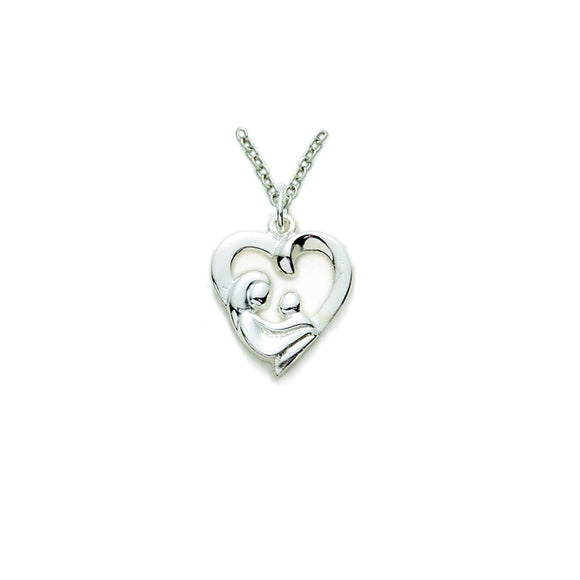 Mother & Child Heart Necklace