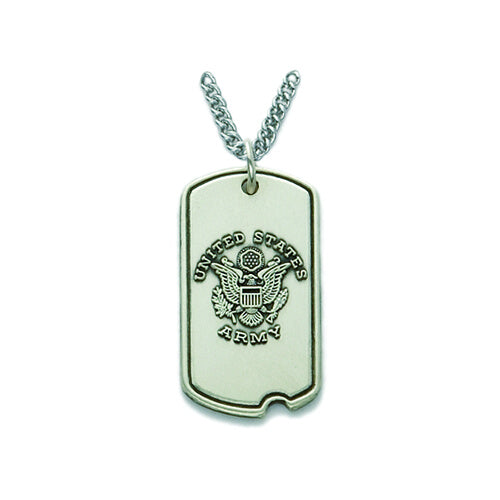 St. Michael Sterling Silver Army Dog Tag