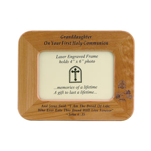 Granddaughter First Communion Wood Frame