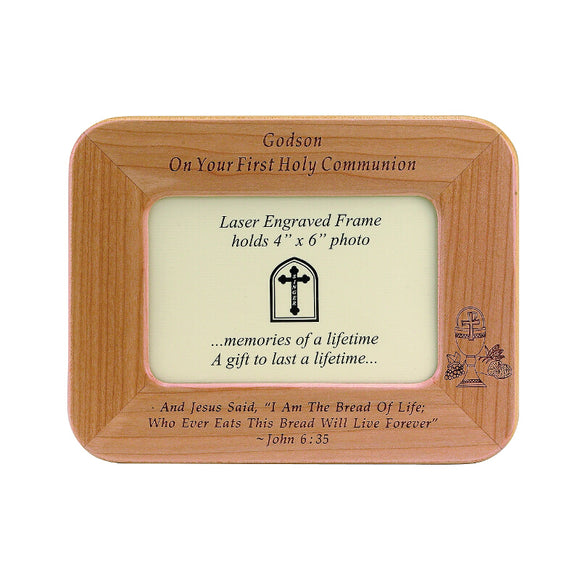 Godson First Communion Wood Frame