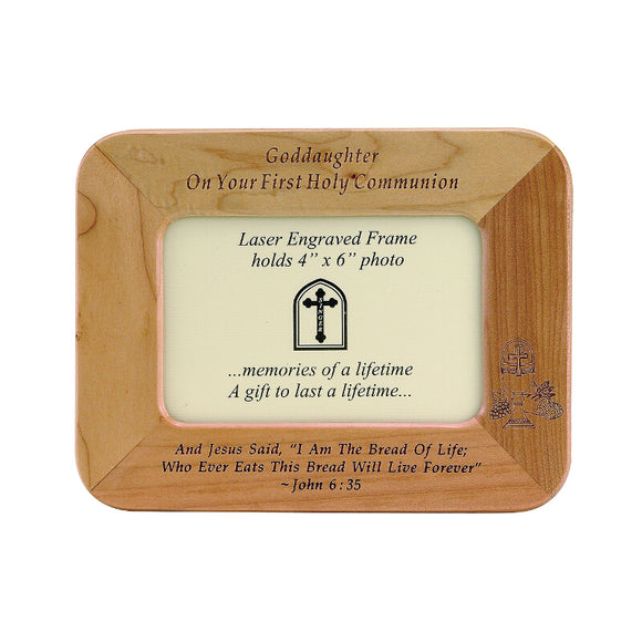Goddaughter First Communion Wood Frame
