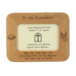 To My Godparents Wood Frame
