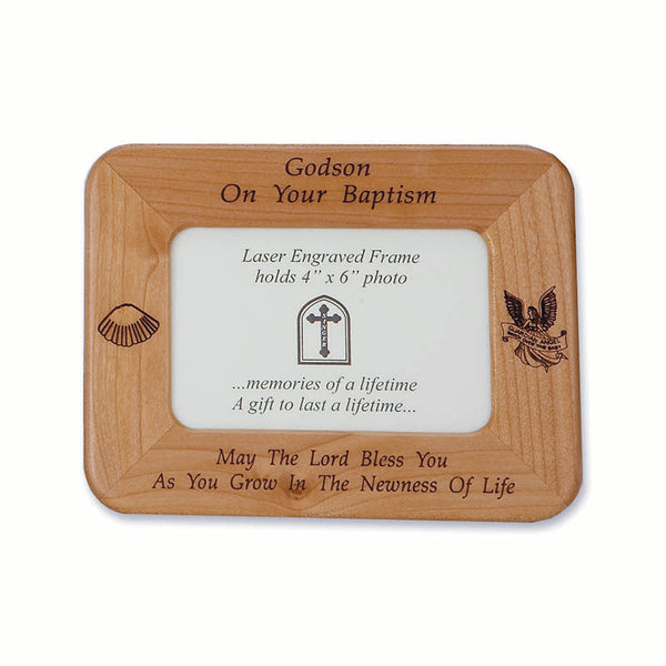 Godson Baptism Wood Frame – The Catholic Gift Store