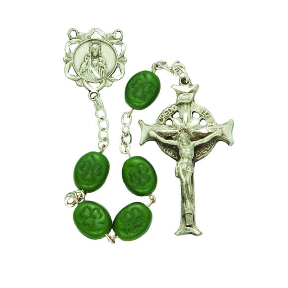 Pewter Irish Shamrock Rosary