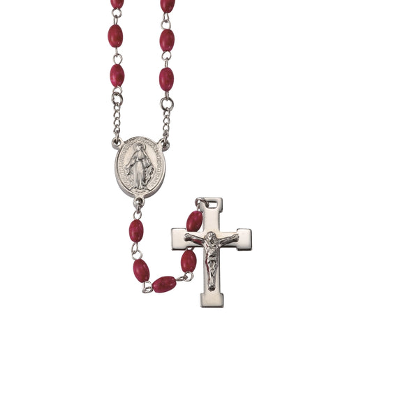 Red Stainless Steel Rosary