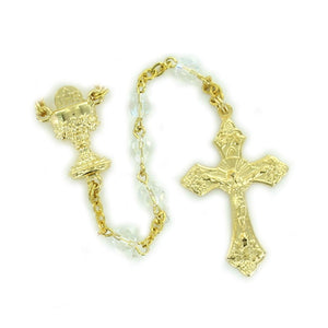 Gold Crystal Communion Rosary