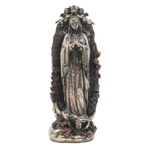 Bronze Our Lady of Guadalupe 12""