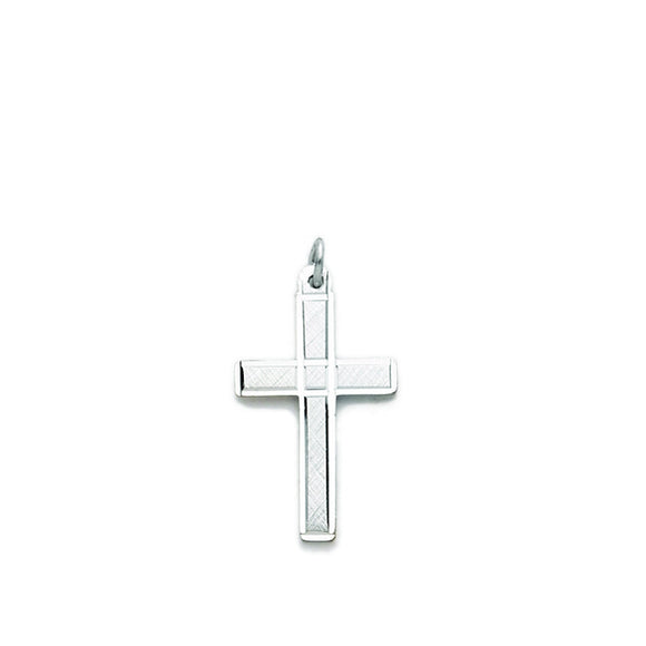 Sterling Silver Diamond Cut Cross