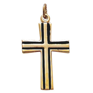Gold & Black Cross