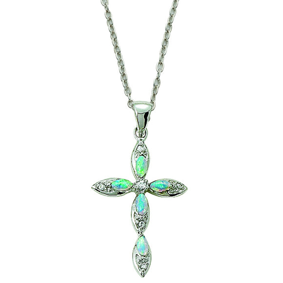 Pointed Opal Cross