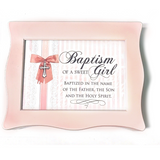 Pink Wavy Baptism Music Box
