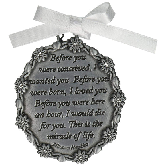 Gift of Love Crib Medal - Blue, Pink, or White