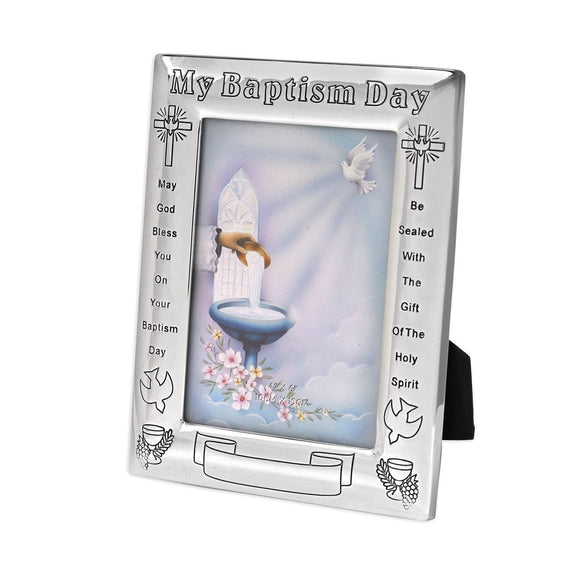 Silver My Baptism Day Frame