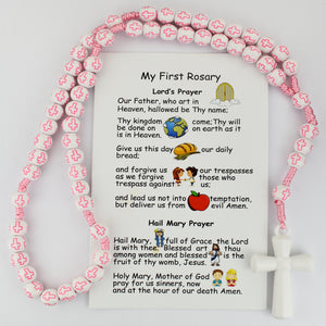 Kid's Pink Cross Rosary