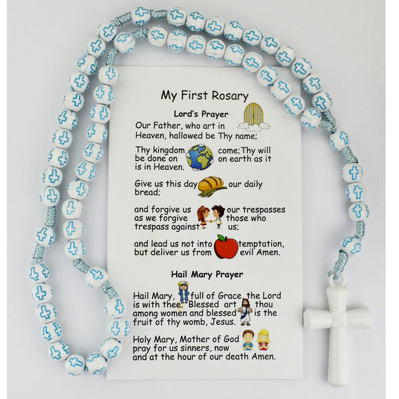 Kid's Blue Cross Rosary
