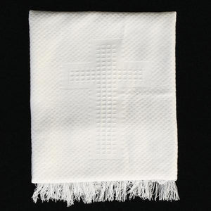 Baptism Blanket with Cross Designs