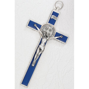 "8"" St. Benedict Wall Crucifix - Assorted Colors"