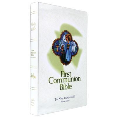 First Communion Bible in White (NAB)