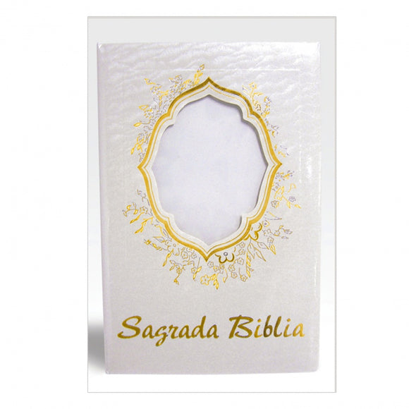 Sagrada Biblia - White and Gold Large