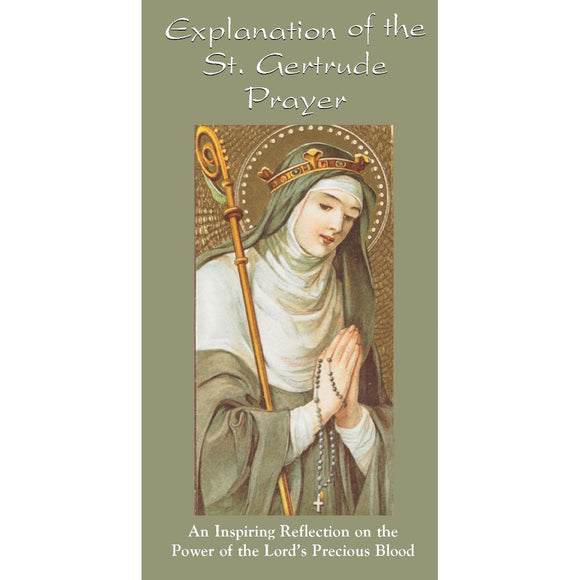 Explanation of the St. Gertrude Prayer