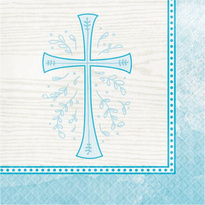 Blue Cross Beverage Napkins
