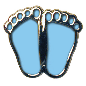 Blue Precious Feet Pin