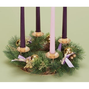 Purple Ribbon & Pinecone Advent Wreath