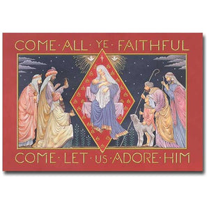 Come All Ye Faithful Christmas Cards