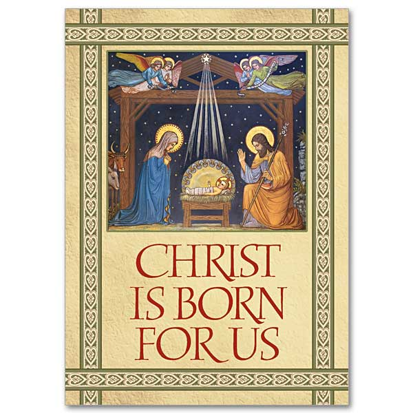 Christ Is Born For Us Christmas Cards