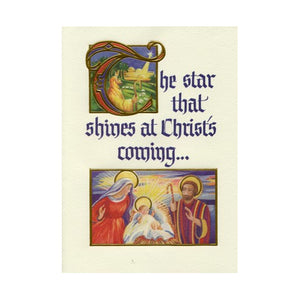 The Star That Shines at Christ's Coming Christmas Cards