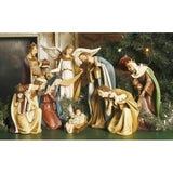 "8 Piece 12"" Ceramic Nativity Set"