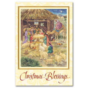 Christmas Blessings Nativity Scene Cards