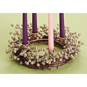 Champagne Berry Advent Wreath