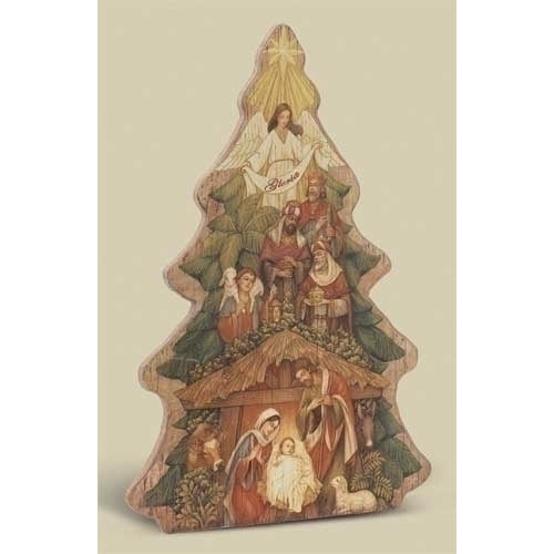 Nativity Tree Plaque