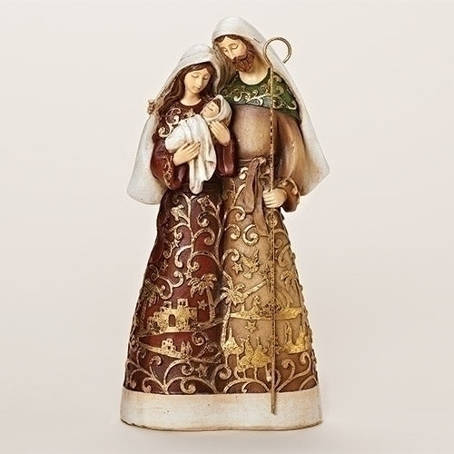 Goldleaf Holy Family Figure