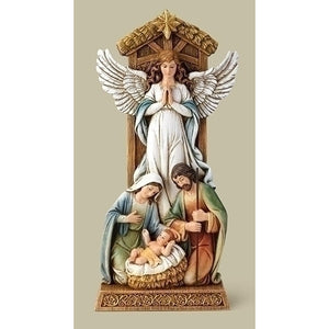 Holy Family and Angel Figurine
