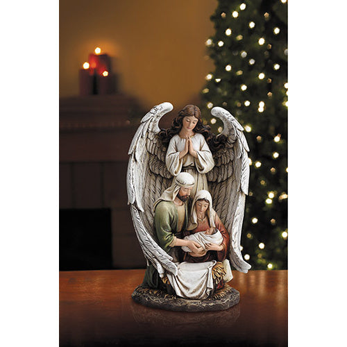 Guardian Angel Holy Family Figurine
