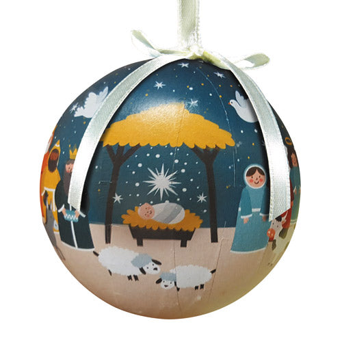 Starlight Nativity Decoupage Ornament