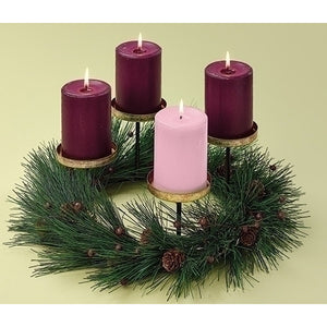 Pine Advent Votive/Small Pillar Wreath