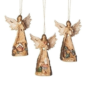 Carved Angel Ornaments