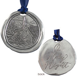 Pewter Church Ornament