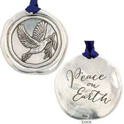 Pewter Dove Ornament