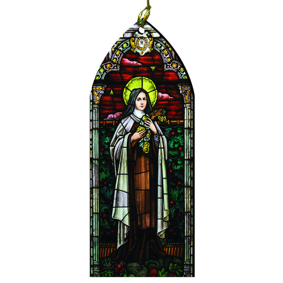 Saint Therese of Lisieux Stained Glass Ornament