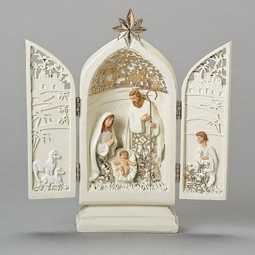 Goldleaf Holy Family Triptych