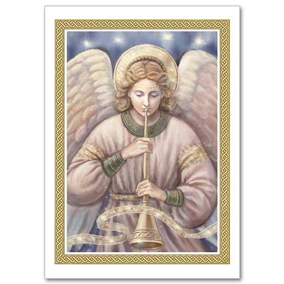Angel with Trumpet Christmas Cards