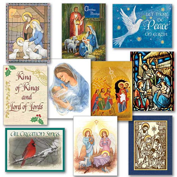 The Lord is Come Assorted Christmas Cards