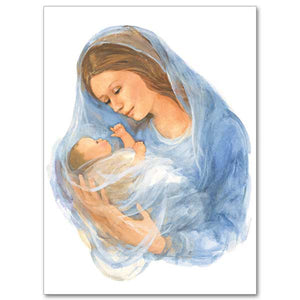 Madonna & Child Painting Christmas Cards