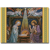Beuronese Nativity Mosaic Christmas Cards