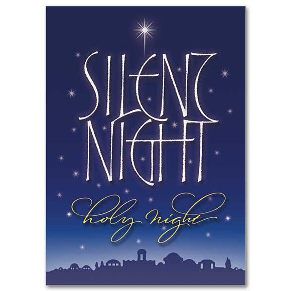 Silent Night, Holy Night Christmas Cards